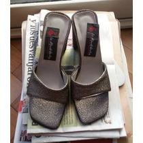 Zapatos De Mujer De Vestir Color Plateado Nº37 Muy Poco Uso