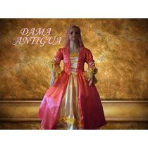 Disfraz Vestido Traje De Dama Antigua