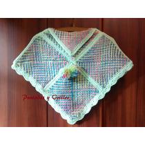 Poncho Artesanal Tejido En Telar Crochet Niñas Campera Saco