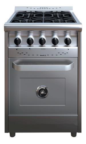 Cocina Industrial Morelli Country 550 4 A Gas Acero Inoxidable Puerta Ciega