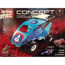 Armamec Concept Tipo Mecano 150 Piezas C/herramientas