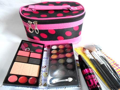 7f70a235b Kit Maquillaje Estuche Pinceles Porta Cosmetico Ydnis. $ 950