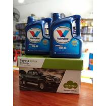 Cambio De Aceite Semisintético+filtros Toyota Hilux 2.8-3.0
