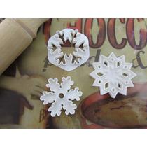 Moldes Cortantes De Cookies Y Fondant Kit 3 Copos De Nieve
