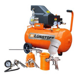 Compresor De Aire 50 Litros 2.5hp + Kit 5 Lc2550 Sin Interes