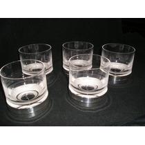 5 Vasos De Whisky De Cristal Y Base Plateada - Copet Regalo