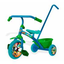 Triciclo Infantil Con Manija Chicos Nene Nena Mickey Peppa