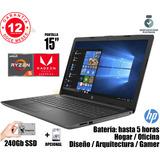 Notebook Hp Ryzen 5 / 16gb Ram / Ssd 240gb / Diseño + Gamer