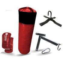 Bolsa De Boxeo+guantines+soporte+mosqueton Guantin Box Kit!