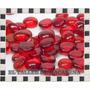 Gemas De Vidrio Bolsa Color Rojo 10u/oferta- Oferta-oferta