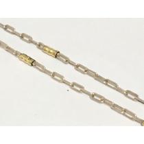Cadena Para Hombre En Plata Y Oro 60cm