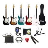 Combo Guitarra Electrica + Amplificador + Funda + Accesorios - Cuotas