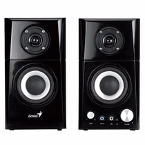 Parlantes Genius Sp Hf-500a Mp3 14watts Woofer Madera 2.0