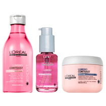 Kit Shampoo + Serum + Mascara Lumino Contrast Loreal Mechas