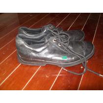 Zapatos Tipo Colegial Marca Kickers Numero 36 Cuero Negro