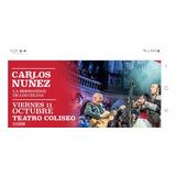 Entradas Para Carlos Nuñez  11/10 Teatro Coliseo Platea