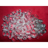 Caireles Cristal Boton 14mm Octogonal Argolla Plata X100