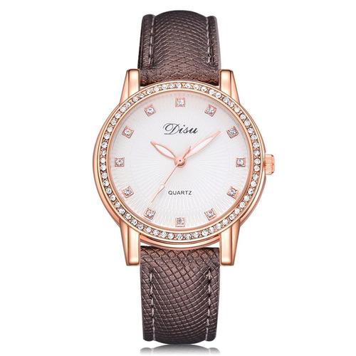 Ds071 Reloj De Cuarzo Marrón