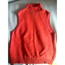 Sweater Polera Tejido En Hilo Marca Solido Inc. Talle M