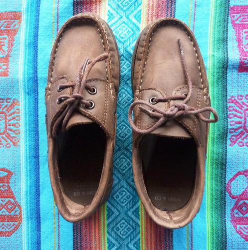 ad62ade1 Zapatos De Cuero Marrones Mimo N°30