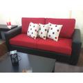 Living Sofa Tres Cuerpos Tela Oferta