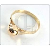 Anillo Oro 18k Con Bolita Certificado Garantia