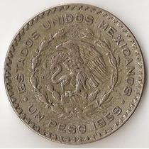 Mexico, Peso, 1959. Plata Baja. Vf