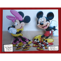Souvenir Evento Personaliza Madera 40cm Disney Mickey Minnie