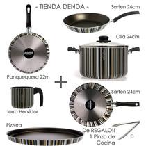 Bateria De Cocina 8 Piezas Domo - Dolli Irigoyen Teflo*td*