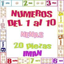 Juego Didáctico Números 1 Al 10 Iman - 20 Piezas Nenas