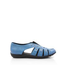 Zapatos De Cuero Blaque Para Mujer Zapatilla Hanoi