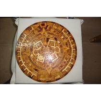 Calendario Azteca De Maderas Incrustadas