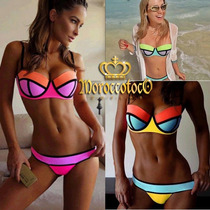 Malla Bikini Importada Usa Fluo