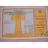 Entrada Religiosa Congreso Eucaristico 1934 + Escudo