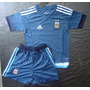 Kit Niño Argentina Camiseta Short Pantalon 2015 2016 Messi
