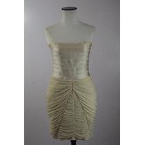 Vestido Fiesta Strapless Marca Bebe-color Marfil-medium
