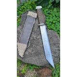 Cuchillo Seax Vikingo Forjado Acero Al Carbono Con Tallados