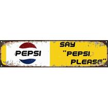 Carteles De Chapa Publicidad Pepsi Apai 011 No Es Vinilo