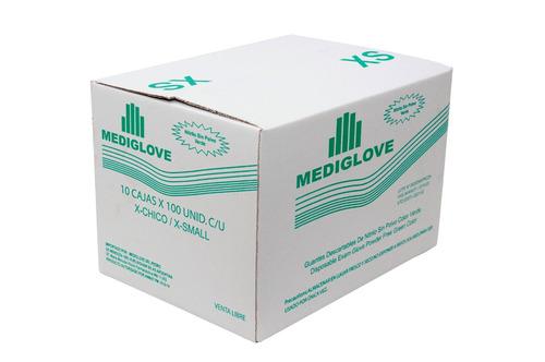 Guantes De Nitrilo Verde. Sin Polvo - (10x100un) Mediglove