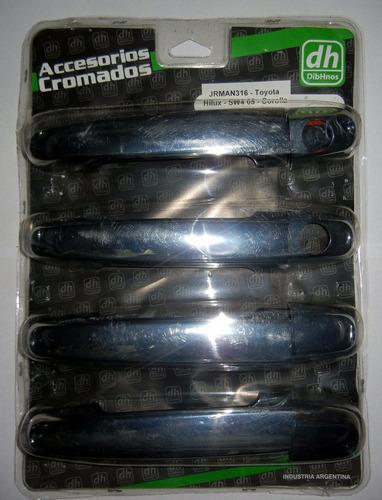 Cubre manijas cromadas corolla 2005 2013 448 esoan for Cubre piscinas automatico precio