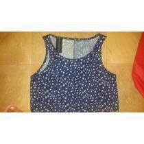 Blusa De La Ostia Azul Gris Cierre Ultima Moda T Rapsodia