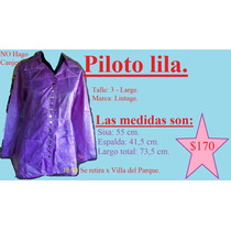 Piloto Lila. Talle 3 - Large (marca Lintage)