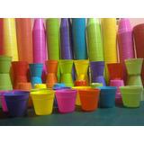 Macetitas Color Plastico N° 6 Mayorista Local Once