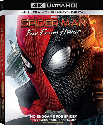 Spider-man Far From Home 4k Ultra Hd + Blu-ray Nuevo Import