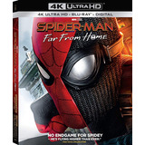 Spider-man Far From Home 4k Ultra Hd + Blu-ray Nuevo Import