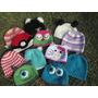 Gorros Crochet Animados Y Simples Variedad De Modelos 2x$240