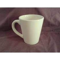 Taza Ceramica Conica Blanca