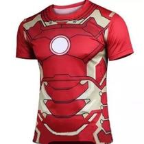 Camisa Remera Ironman Iron Man Manga Corta Civil War Marvel