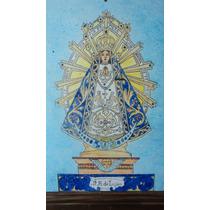 Virgen De Lujàn Mayòlicas 0,30 X 0,40