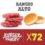 Hamburguesas 70gr X 72 Unidades Oferta Con Pan Y Aderezo